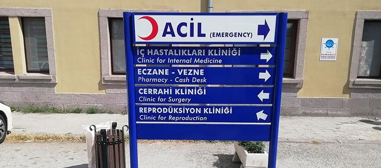 Hastane - Yönlendirme Tabelası