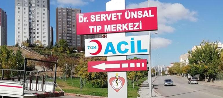 IŞIKSIZ TOTEM TABELA - DR. SERVET ÜNSAL TIP MERKEZİ