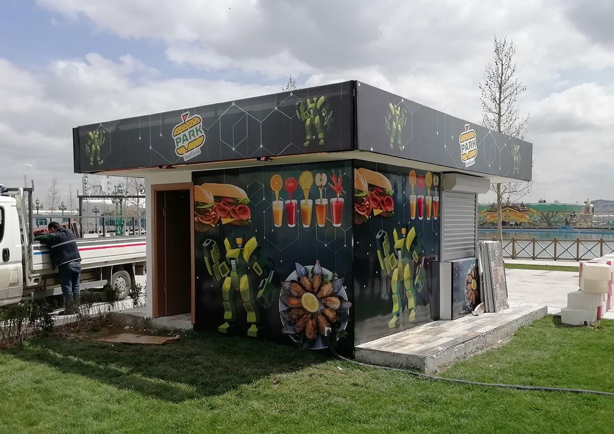 Park Fastfood - Bina Cephe Giydirme