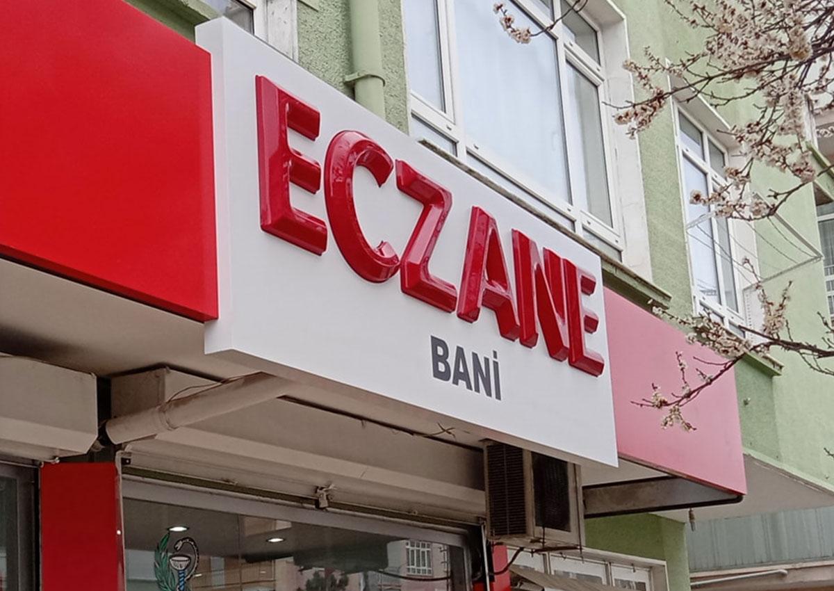 ECZANE TABELASI - ECZANE BANİ