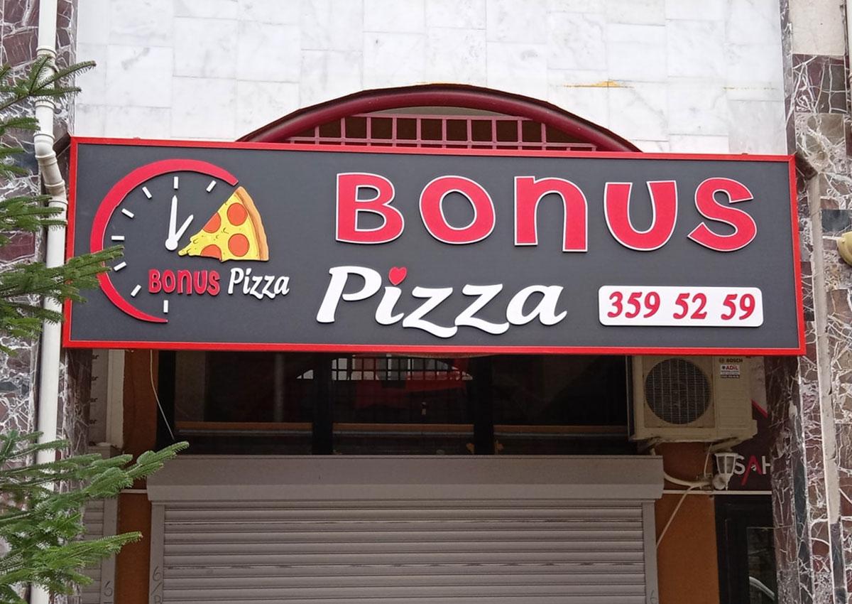Bonus Pizza -  Işıksız Tabela